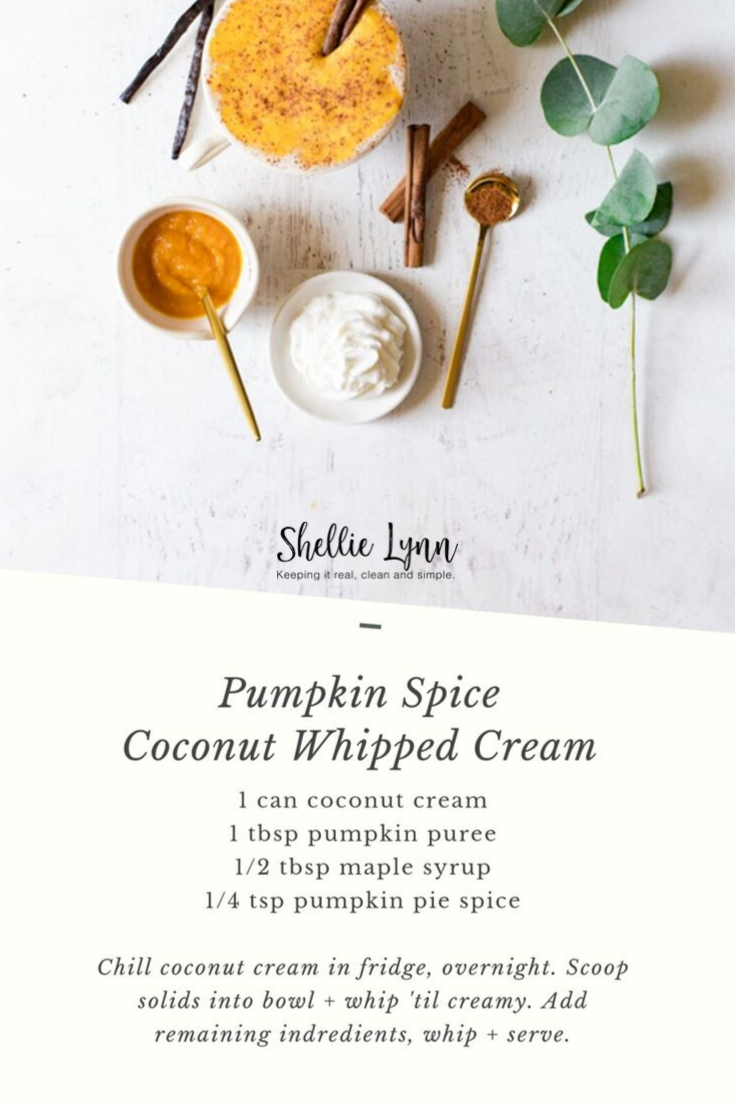 Pumpkin Spiced Coconut Whipped Cream Recipe