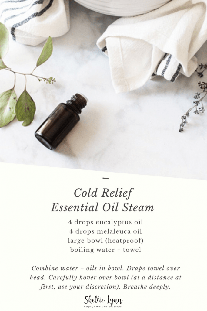 Cold Relief Essential Oil Steam