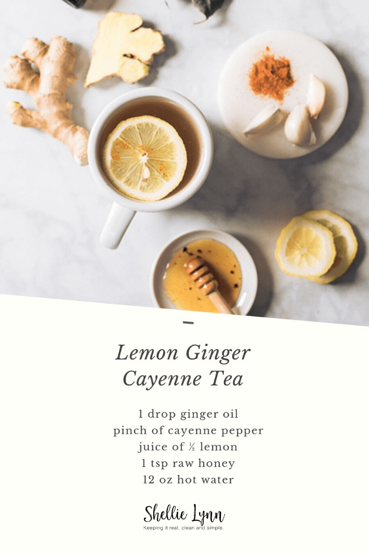 lemon ginger cayenne tea
