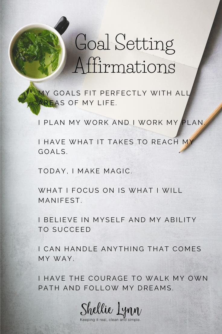 goal setting affirmations