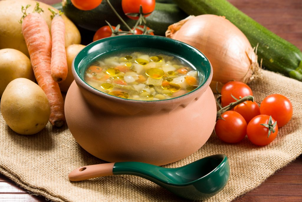 Hearty Plant Based Minestrone Soup with Arugula