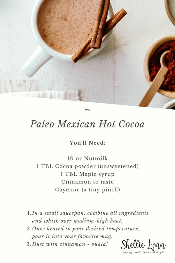 Healthy Paleo Mexican Hot Cocoa Recipe