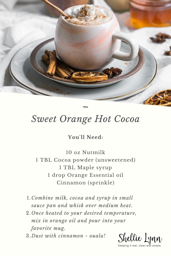 Healthy Sweet Orange Hot Cocoa Recipe