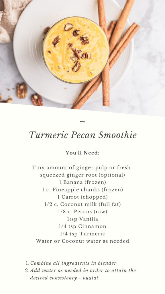Turmeric Pecan Smoothie Recipe