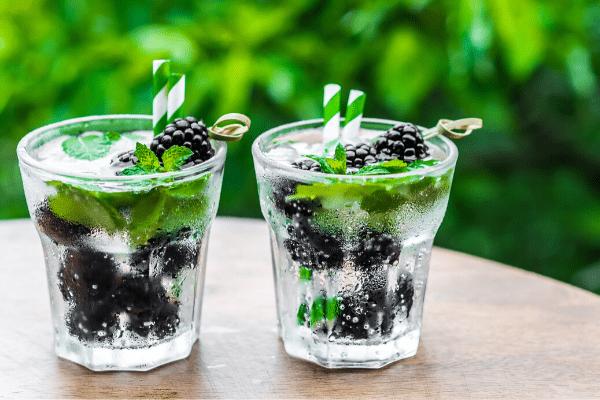 Blackberry Sage Infused Detox Water