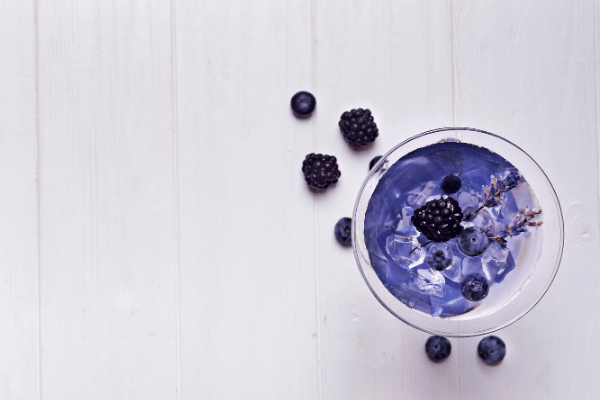 Blueberry Lavender Infused Detox Water